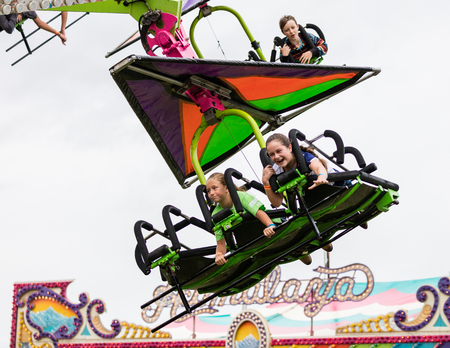 hang glider: Hang glider  ride at the Shasta County Fair in Anderson, California. Editorial