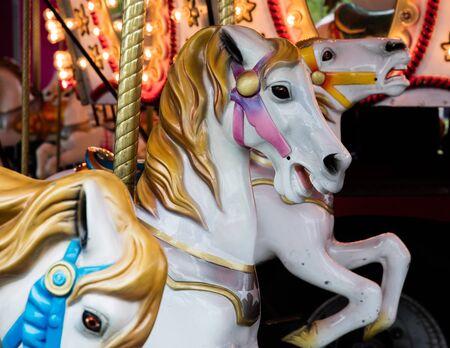 merry go round: Horses  Merry Go Round Stock Photo