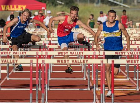 meet: Championship track meet action in Cottonwood, California.