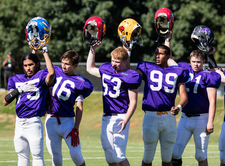 Lions All Stars football action in Redding, California. Editorial