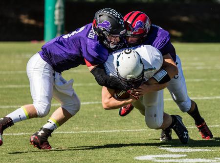 gavilan: Lions All Stars football action in Redding, California. Editorial