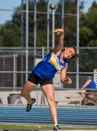 Track and Field action in Anderson, California. 에디토리얼