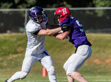 Football action at the Lions All Star Game in Redding, California.