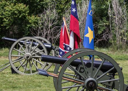 Civil War reenactment at Dog Island in Red Bluff, California. Reklamní fotografie
