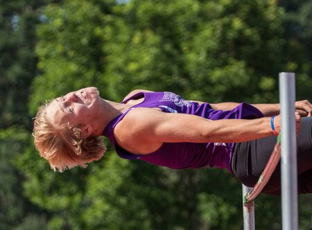 finals: Track and field action at Northern California finals, Cottonwood, California.