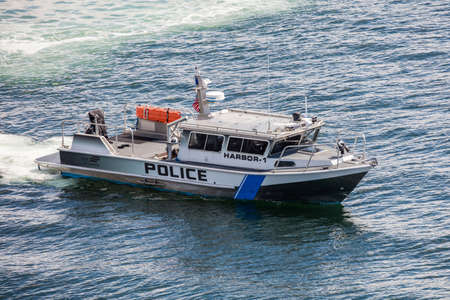 Police boat in Seattle, Washington.
