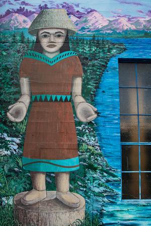 vandal: Street art mural in Olympia, Washington.