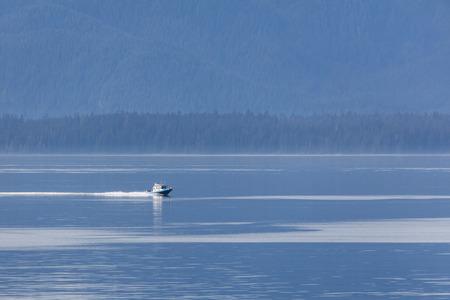 passage: Charter boat in Alaskas Inner Passage.