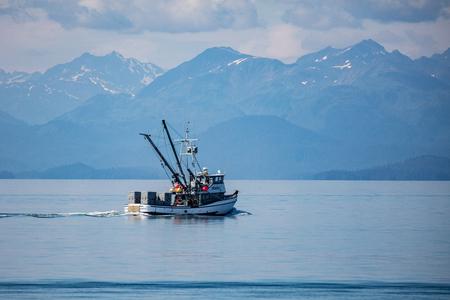 Charter boat in Alaskas Inner Passage.