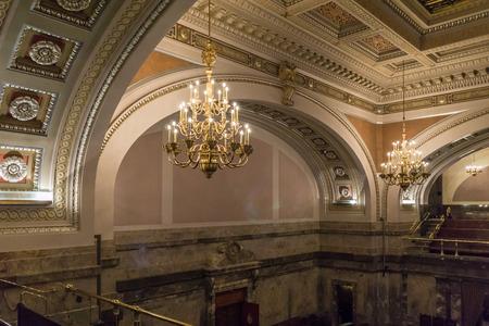 george washington: En el interior del edificio de la legislatura estatal en Olympia, Washington. Editorial