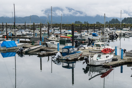 sitka: Fishing boats in Sitka, Alaska. Editorial