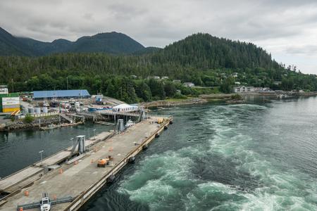 sitka: Deep water pier in Sitka, Alaska.