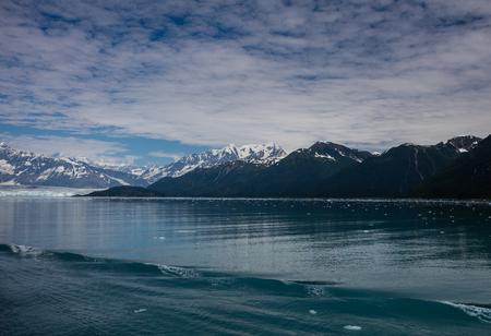 alaska: Hubbard Glacier in Alaska. Stock Photo