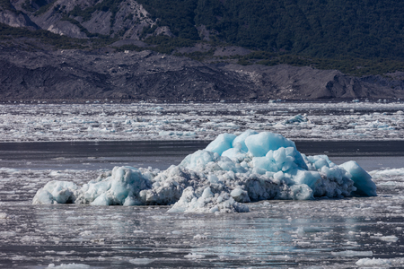 Hubbard Glacier in Alaska. Stock Photo
