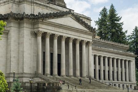 legislature: State legislature building in Olympia, Washington. Editorial