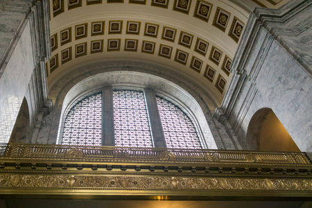 Inside the state legislature building in Olympia, Washington. Editorial
