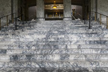 legislature: Marble steps of legislature building in Olympia, Washington. Editorial