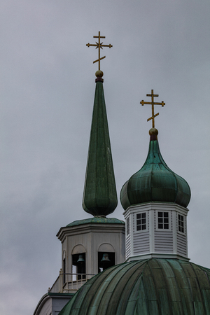 Saint Michaels Russian Orthodox Cathedral at Sitka Alaska Editorial