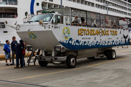 amphibious: Duck amphibious vehicle in Ketchikan, Alaska.