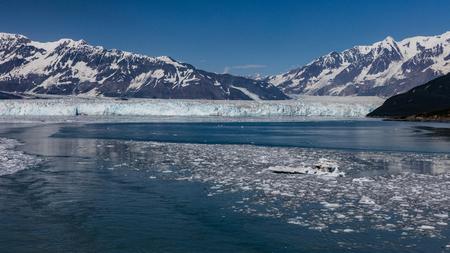 icefield: Hubbard Glacier inside Disenchantment Bay, Alaska.
