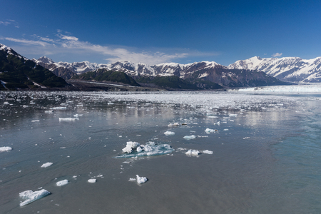 Hubbard Glacier inside Disenchantment Bay, Alaska.