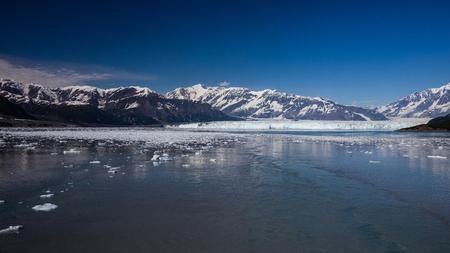 disenchantment: Hubbard Glacier inside Disenchantment Bay, Alaska.