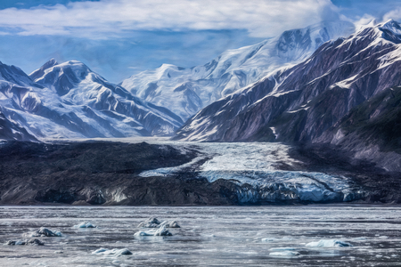 disenchantment: Turner Glacier in Disenchantment Bay, Alaska. Stock Photo