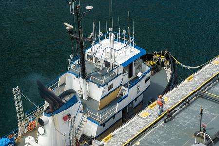 Tugboat: Tugboat in Juneau, Alaska Editorial