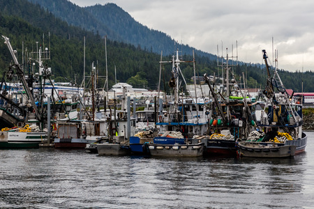 sitka: Fishing trawlers in Ketchikan, Alaska. Editorial