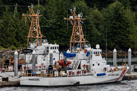 Coast Guard cutters in Juneau, Alaska. Stok Fotoğraf - 61173032