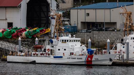 Coast Guard cutters in Juneau, Alaska.