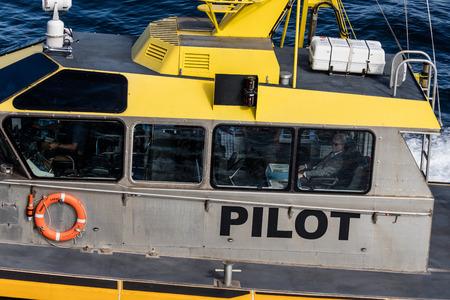 Pilot boat  in Victoria Harbor, Canada.