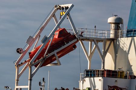 Freighter in the Strait of Juan de Fuca, British Columbia, Canada. Editorial