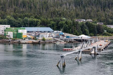 sitka: Dock at Ketchikan, Alaska.