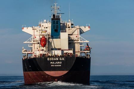strait of juan de fuca: Large container ship in Strait of Juan de Fuca, Washington.