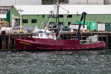 sitka: Fishing boat in Alaska. Editorial
