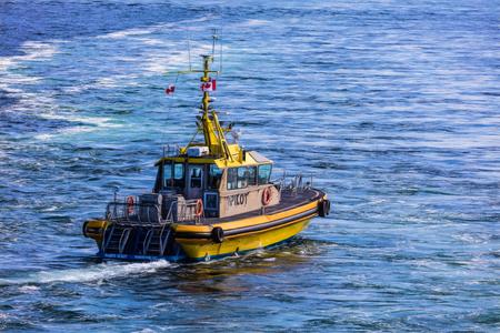 Pilot Boat in Victoria, Canada. Editorial