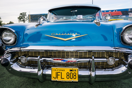 grille: Classic car at the Kool April Nights Show in Redding, California. Editorial
