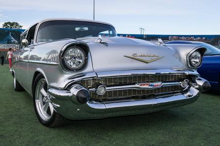 bel air: Classic car at the Kool April Nights Show in Redding, California. Editorial