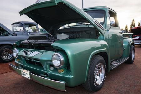 Classic truck  at the Kool April Nights Show in Redding, California.