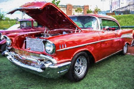 bel air: Classic car at the Kool April Nights show in Redding, California.
