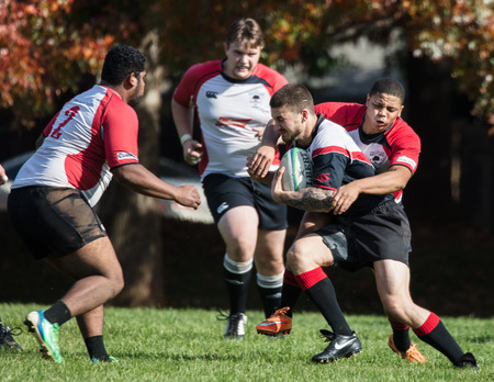 Rugby Action in Redding, California. Editorial