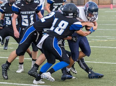High School football action in Redding, California. Editorial