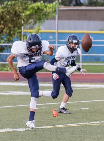 gavilan: Football action at University Prep High School in Redding, California.