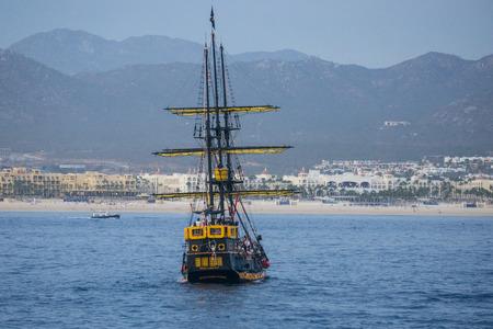 Replica pirate ship in Cabo San Lucas, Mexico.