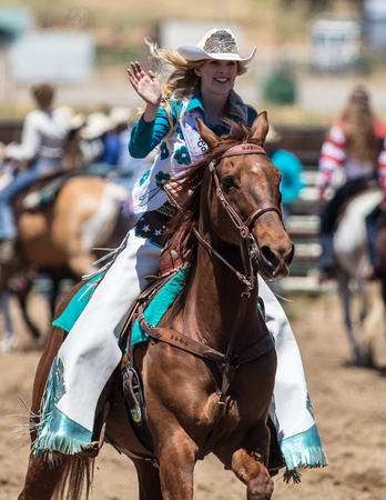 Rodeo queen at the Cottonwood Rodeo in northern California.