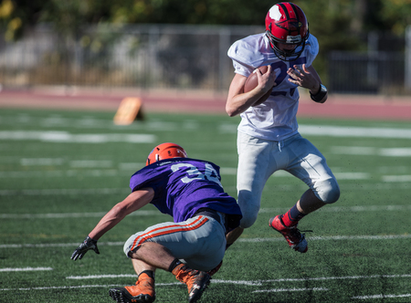 All star 8 man football action in Oroville, California, June 17, 2017. Editorial