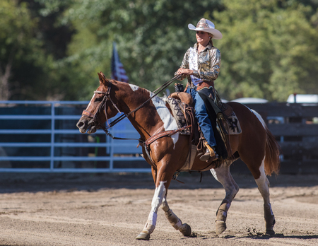 Junior rodeo action at the Scott Valley Rodeo in Etna, California.