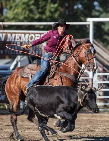 Rodeo action  at the Scott Valley Pleasure Park Rodeo in Etna, California