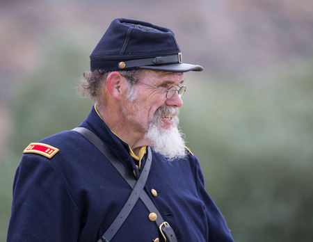 Civil War Reenactor at the Union Gap Reenactment in Yakima, Washington.